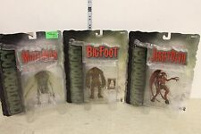 Mezco Cryptozoology Figure Set of 3 Bigfoot, Moth man, and Jersey Devil