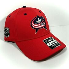 Fanatics COLUMBUS BLUE JACKETS HAT red dry-fit structured fit FLEX 7-3/8 1/2 5/8