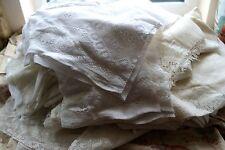 <1kilo Lot cotton lace colours panels projects/crafts/reworking free UK post