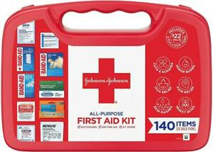 Johnson & All-Purpose Portable Compact Emergency First Aid 140 Count
