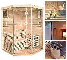 Sauna Saunakabine Ecksauna Massivholz Traditionell Harvia Saunaofen Zubehör