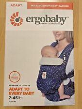 Neue Ergobaby Adapt Babytrage Premium Cotton blau/weiß