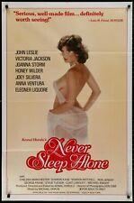 Never Sleep Alone Victoria Jackson Original 1983 1 Sheet  MOVIE POSTER 27 x 41