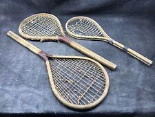 Lot de trois anciennes raquettes de tennis taille enfant ,1900