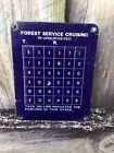 Vintage forest service cruising tree tacker sign Original