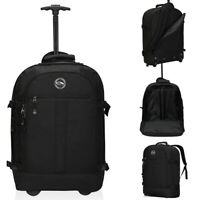 Travel School Rolling Backpack Carry on Wheeled Backpack Laptop 21 x 15 x 8 inch