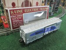 K-LINE K-648105 WESTERN PACIFIC PURPLE FEATHER BOXCAR WITH ORIGINAL BOX EXC COND