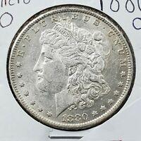 1880 O Morgan Silver Dollar Variety Coin Average UNC Micro o Vam Variety