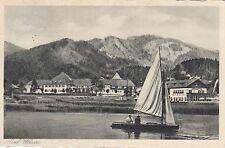 Bad Wiessee ak 1934 barco de vela panorama Alpes Baviera 1705139