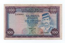 BANCONOTA 100 DOLLARS BRUNEI 1978 SINGAPORE SULTAN MOSQUE RARA BB+