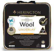 Pure Wool Underlay by Herington | Reversible | Australian Made | Queen