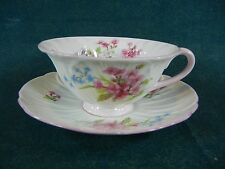 Shelley Stocks Pattern 13428 Oleander Shape Flat Cup and Saucer Set(s)