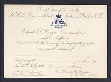 Presentation of Regimental Colours by Duke of Clarence 1889 - Duke of Wellington