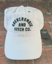 MENS ABERCROMBIE & FITCH LIGHT PINK ADJUSTABLE DISTRESSED HAT CAP ONE SIZE