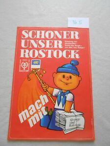 Original Plakat / Poster  Reklame DDR Rostock Altstoffe  W. Jeschke