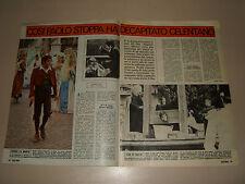 ADRIANO CELENTANO PAOLO STOPPA  clipping articolo foto photo 1973 FILM RUGANTINO