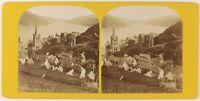 Panorama Da Bern Suisse Foto PL27L2n Stereo Vintage Albumina c1865