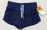 Cat & Jack Girl's Shorts Drawstring Eyelet Navy Blue Sizes 12M to 5T