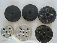 Lot of 6 Kodak 100' FOOT 16mm Movie reels  2 TAKEUP SPOOL + 3 with Film on them