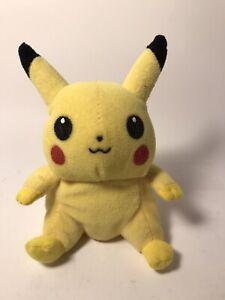 "Vintage 1998 Pokemon Pikachu Plush Stuffed Animal Toy Nintendo 5 1/2"""