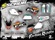 SCRUB KTM EXC 450 - 525 2004 '04  Grafik Sticker Dekor-Set Enduro