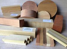 Woodturning riquadro di selezione-Misto specie Ciotola & quadrato legno tornitura BIANCHI REGALO