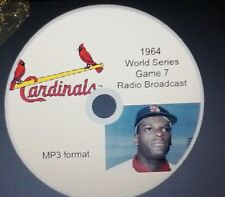 1964 World Series Game 7 radio broadcast in MP3 Format St. Louis Cardinals win