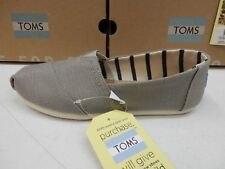 TOMS WOMENS SHOES CLASSIC MORNING DOVE HERITAGE CANVAS SIZE 10
