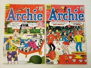Archie Comics (Lot of 2) Low Grade Silver Age 1967/68 - #177 & 187. VG 4.0 & UP!