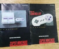 Super Nintendo Instruction Manual + controller manual ONLY! (SNES) Booklet nes