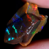 Ring Necklace Multi Color Flashing ETHIOPIAN OPAL WELO ROUGH Fire  13.95 Cts