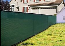 Green 4*12FT Fence Windscreen Privacy Screen Shade Cover Fabric Mesh Garden Tarp