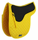 Horse English Saddle Pad Cotton Quilted Trail Contoured Gel Yellow 72135