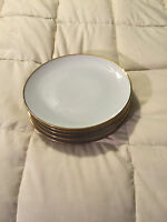 5 VINTAGE BAVARIA CROWN SMALL GOLD TRIM ROUND FINE CHINA 7.75 INCH PLATES LOT