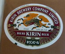 VINTAGE CANADIAN BEER LABEL - KIRIN BREWERY, KIRIN BEER 355 ML