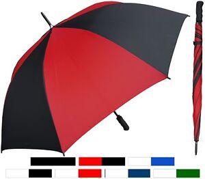 "58"" Arc Auto-Open Golf-Size Umbrella, Fiberglass Ribs -RainStoppers, Rain/Sun UV"