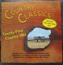 COUNTRY CLASSICS - TWENTY-FOUR COUNTRY HITS  - 2 LP -royalty records