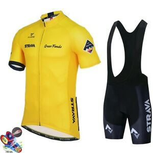 2021 Men Cycling Jersey Bib Shorts Set Bike Clothing Bicycle Short Team Racing