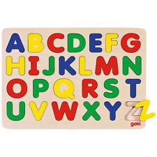 """goki Alphabetpuzzle """"Buchstaben von A - Z"""" GK601 - Holzspielzeug Puzzle 26 Teile"""