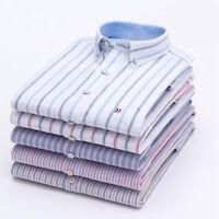 Plaids & Checks New Mens Farmal Casual Quality Dress Long Sleeves Shirts ZC6438