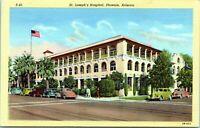 1940 PHOENIX St Josephs Hospital Arizona Linen Postcard CI