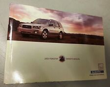 2003 Subaru Forester owners manual
