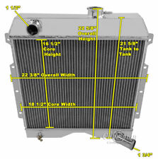 3 Row SZ Champion Radiator for 1954 - 1964 Willys Truck and Wagon