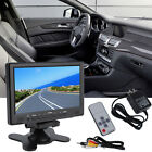 7Inch 800x 480 TFT Color LCD AV Vehicle Car Rearview Monitor HDMI VGA AV IB