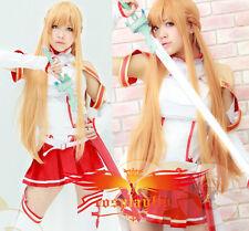 Hot Sword Art Online Asuna Yuuki Just long cosplay wig free shipping + wig cap