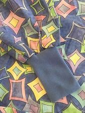 5XL Scrub Warm Up Jacket Diamond Geometric Print Nurse Medical Uniform Plus Size