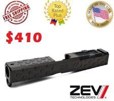 *ZEV Technologies Glock 19 Gen 3 Stripped Slide - HEX with RMR Plate - Black DLC