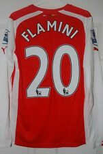 RARE ARSENAL PLAYER ISSUE LS 14/15 HOME SHIRT NON ACTV SMALL FLAMINI EPL BADGES