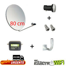 EKSELEANS RS.KIT5 Kit 60cm Antena Parabólica, LNB, Soporte y 20m Cable Coaxial