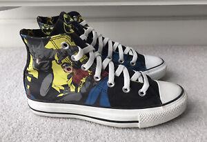 Converse All Star Hi Batman & Robin DC Comics Trainers Black Size UK 5 EU 37.5